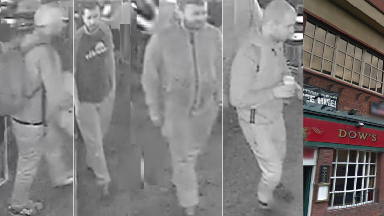 CCTV: Police believe three men could assist in investigation.