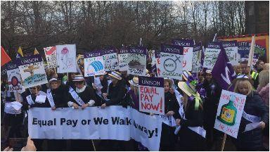 UNISON women's march