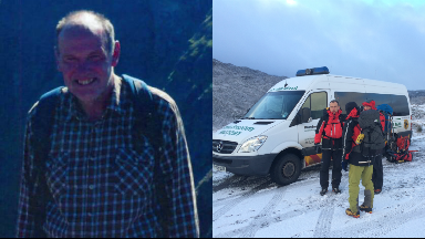 Search resumes for missing hillwalker Neil Gibson.