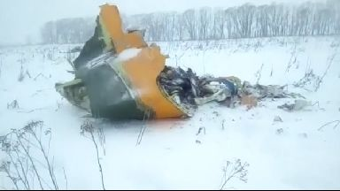 Passenger plane crashes after leaving Moscow.