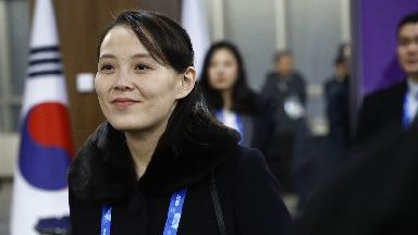 North Korea sent its nominal head of state and Kim's sister Kim Yo Jong.