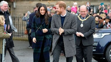 Prince Harry and Meghan Markle in Edinburgh February 13 2018