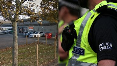 Niddrie: Dog lunged at attacker.