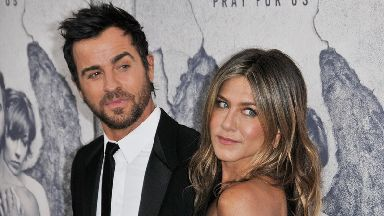 Justin Theroux and Jennifer Aniston arrive at