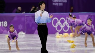 Hanyu's performance have become associated with Winnie the Pooh