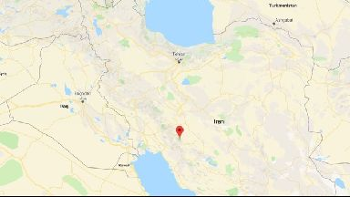The plane crashed almost 500 miles south of the capital, Tehran.