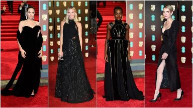 Stars turn out in black in support of the Times Up movement at the Baftas.