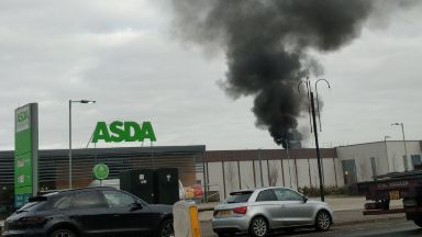 Blaze: People evacuated from leisure centre. Barrhead Foundry