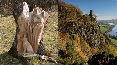 fox and rabbit carving stolen from perth