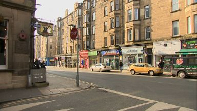 Morningside Road outside the Canny Man's pub in Edinburgh.