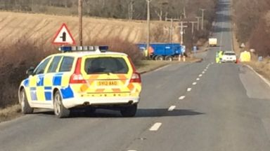A947: Air ambulance has been called. Oldmeldrum and Fyvie
