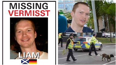Liam Colgan: First sighting was made on CCTV. Hamburg