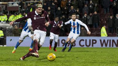 Miss: Hearts passed up a late opportunity.