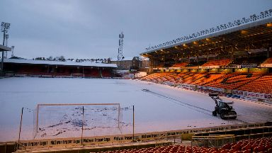 Dundee United snow