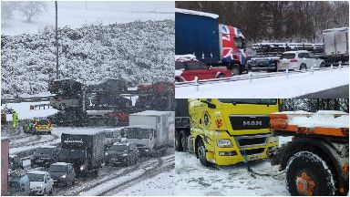 M80: Fuel, water and blankets delivered. Snow
