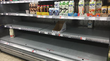 Blog Baillieston Co-op sold out of milk 1/3/18