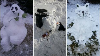 Best snowmen creations from March 2018 during the beast from the east snowstorm