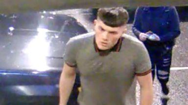 Image of man sought over assault in Falkirk, December 3 2017.