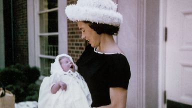 Mother's Day vintage photograph of a mother and her baby