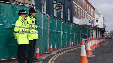 Police stand guard in Salisbury