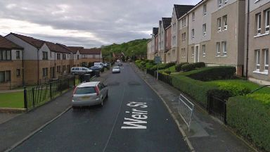 Weir Street: He was taken to hospital. Greenock