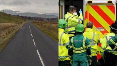 A701: Road was closed after crash. Biggar