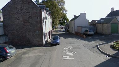 Alyth: Hurled an axe at police officers.