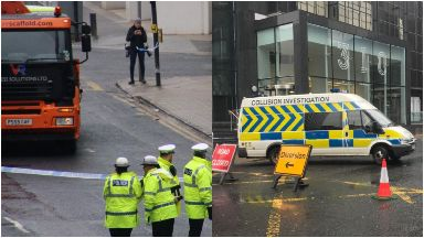 Glasgow: Road closed in both directions. Glasgow