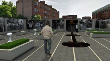 Rangers memorial garden plans at Ibrox.