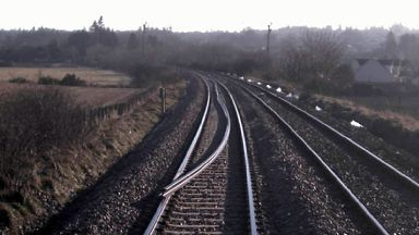 A 425ft-long rail left on track near Cradlehall, Inverness, on February 25 2018