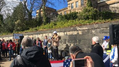 Emily Crozier Danblane family member at March for our Lives demonstration Edinburgh March 24 2018