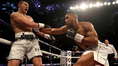 Anthony Joshua takes on Joseph Parker in Cardiff.