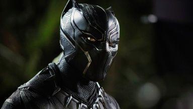 Chadwick Boseman as the Black Panther.