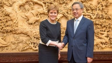 Nicola Sturgeon: Raised issue of human rights. Hu Chunhua China