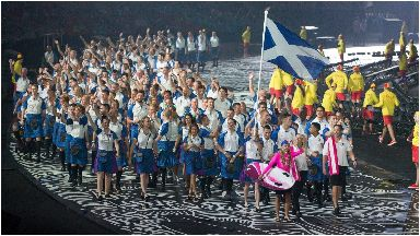 Team Scotland opening ceremony