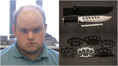 Connor Ward: Hundreds of weapons at his home. Banff Terrorist Aberdeenshire