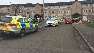 Holytown: Streets have been cordoned off. Shirrel Road Motherwell