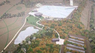 Wavegarden Scotland Craigpark Quarry plans, artist's impressions.