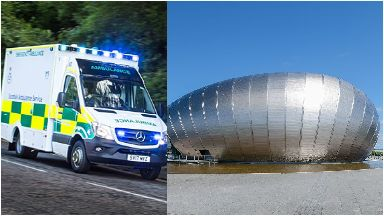 Injured: Emergency services called. Glasgow Science Centre