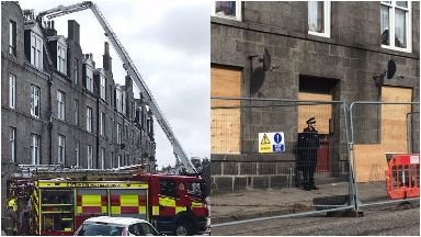 Fire: Scott Simpson appeared in court. Victoria Road Aberdeen