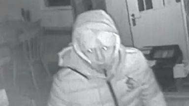 CCTV of man sought over break-in at Sheriffhall Cafe.