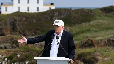 Donald Trump has not visited his Turnberry golf course in South Ayrshire, Scotland, since being elected to the presidency.