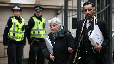 Former Catalan Minister Professor Clara Ponsati, who is facing extradition to Spain, arrives at Edinburgh Sheriff Court for an extradition hearing.