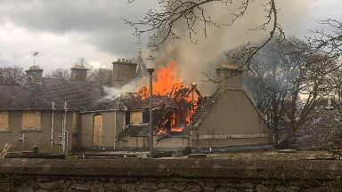 Fire at Blythewood Care Home in Inverurie, Aberdeenshire, on 22/4/18