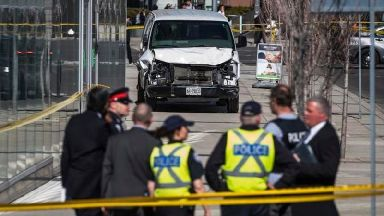A rental van was used in the attack.