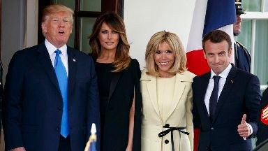 First lady style: Mrs Macron meets Mrs Trump