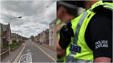 Attack: Man spotted shortly before the attack. Inverness
