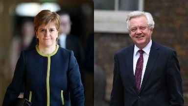 Nicola Sturgeon and David Davis