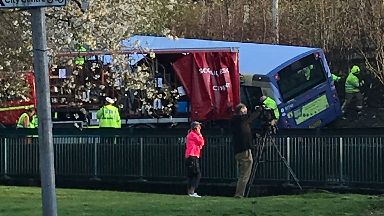 Bus and lorry crash near Clyde Tunnel on 29/4/18