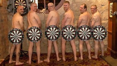 Darts team nude calendar